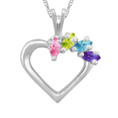 MARQUISE HEART BIRTHSTONE NECKLACE