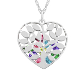 Family Tree Heart Cage Necklace
