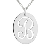 Oval Signet Initial Necklace (A-Z)