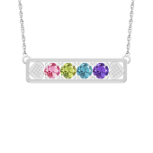 HEART EMBRACED BIRTHSTONE NECKLACE