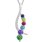 TWISTING JOURNEY BIRTHSTONE NECKLACE
