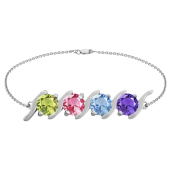 SIMPLE S BIRTHSTONE BRACELET