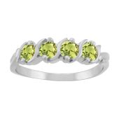 ROUND S BIRTHSTONE RING
