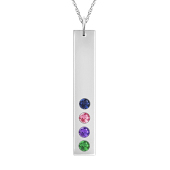 Vertical Birthstone Bar Necklace