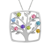 SQUARE TREE OF LIFE NECKLACE