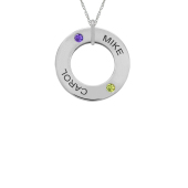OPEN CIRCLE NECKLACE (SMALL)