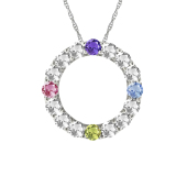 BRILLIANT ETERNITY BIRTHSTONE NECKLACE
