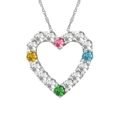 BRILLIANT HEART BIRTHSTONE NECKLACE