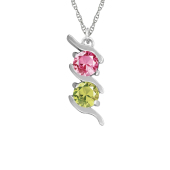 VERTICAL S BIRTHSTONE NECKLACE