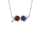 HORIZONTAL S BIRTHSTONE NECKLACE