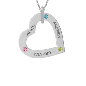 TILTED HEART NECKLACE (MEDIUM)