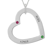 TILTED HEART NECKLACE (LARGE)