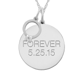ROUND TAG ENGAGEMENT RING NECKLACE