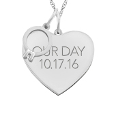 HEART  TAG ENGAGEMENT RING NECKLACE