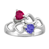 HEART BYPASS BIRTHSTONE RING