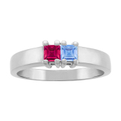 SQUARE BIRTHSTONE RING
