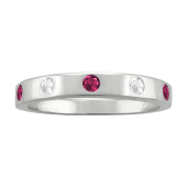 BEZEL BIRTHSTONE STACKABLE RING