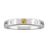 ENGRAVABLE BEZEL BIRTHSTONE RING