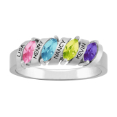 MARQUISE BARRED PERSONALIZED RING