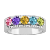 ROUND ACCENTED RING