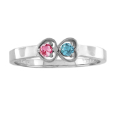 LOVING HEARTS BIRTHSTONE RING
