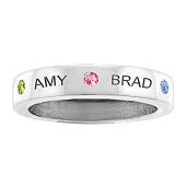 BEZEL BIRTHSTONE PERSONALIZED RING