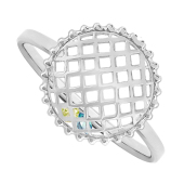 Round Caged Birthstone Ring