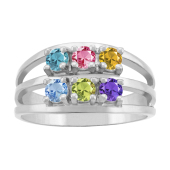 DOUBLE STACKED BIRTHSTONE RING