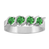 ROUND S BIRTHSTONE RING (LARGE)