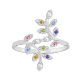 Family Tree Branch Birthstone Ring