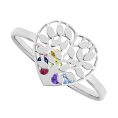 Family Tree Heart Cage Ring