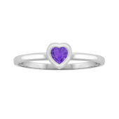 Heart Bezel Birthstone Ring