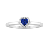 Heart Halo Birthstone Ring