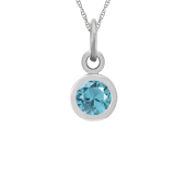 BEZEL BIRTHSTONE CHARM NECKLACE