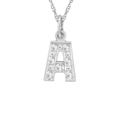 ACCENTED INITIAL CHARM NECKLACE