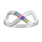INFINITY BIRTHSTONE RING