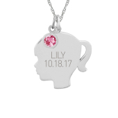 LITTLE GIRL SILHOUETTE NECKLACE
