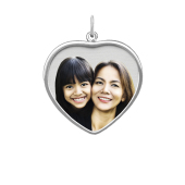 Framed Heart Photo Necklace