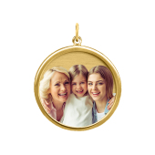 Framed Circle Photo Pendant (Chain not included)