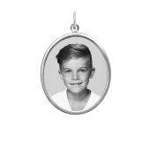 Framed Oval Photo Pendant (Chain not included)