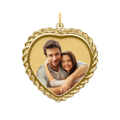 Rope Heart Photo Pendant (Chain not included)