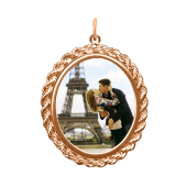 Rope Oval Photo Pendant (Chain not included)