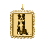 Rope Rectangle Photo Necklace