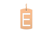 Medium Initial Cut Out Tag (Chain not included)
