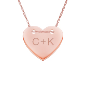 Engravable Heart Tag Necklace