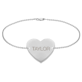Engravable Heart Bracelet
