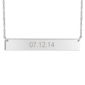 Engravable Horizontal Bar Necklace