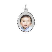 Oval Photo Pendant (Chain not included)