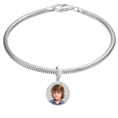 Round Photo Charm (Bracelet Not Included)