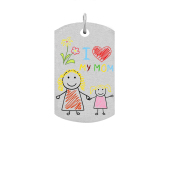 Dog Tag Photo Necklace (Medium)